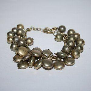 Beautiful gold charm bracelet adjustable